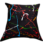 Black Cushion Cover Lumo Splash