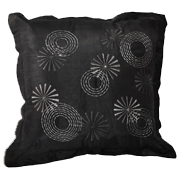 Black Cushion Cover with Sequin Star Detail B
