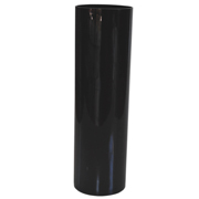 Black Glass Cylinder Vase 30cm