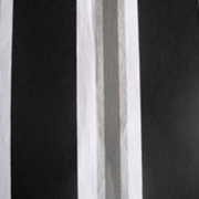 Black, Silver and White Stripe Printed Runner