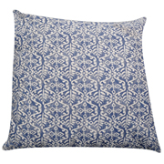 Blue & White Cotton Print Cushion