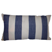 Broad Stripe Denim Blue Weave Cushion Cover