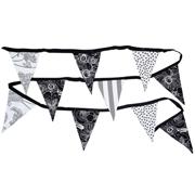 Bunting Black, White & Grey Mixed Patterns