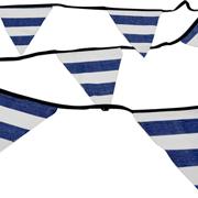 Bunting Stripe Denim & White