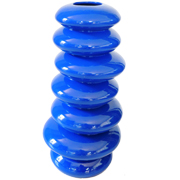 Ceramic Pebble Stack Vase Large Cobalt Blue