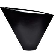 Ceramic Flat Triangle Vase