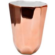 Ceramic Geometric Copper Vase Medium