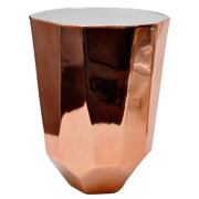 Ceramic Geometric Copper Vase Small