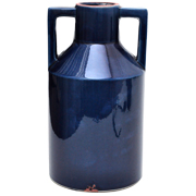 Ceramic Handled Vase Cobalt Blue Large