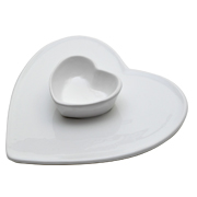 Ceramic Heart Dip Platter