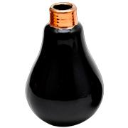 Ceramic Light Bulb Vase Medium Black