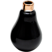 Ceramic Light Bulb Vase Small Black