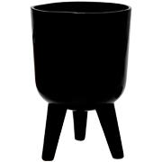 Ceramic Planter Bowl Shape Medium Black