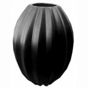 Ceramic Ridged Vase