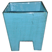 Ceramic Tapered Cube Vase with Legs