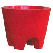 Ceramic Tapered Cylinder Pot with Feet Medium