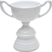 Ceramic Trophy White