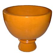 Ceramic Vase with Foot Short Medium