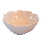 Ceramic Flower Bowl Cream Medium