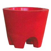 Ceramic Tapered Cylinder Pot with Feet Small