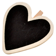 Chalkboard Heart Napkin Tag Small