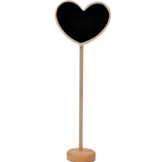 Chalkboard Place Card Tall Heart