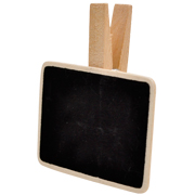 Chalkboard Rectangle Napkin Tag Large
