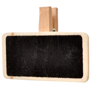 Chalkboard Rectangle Napkin Tag Small