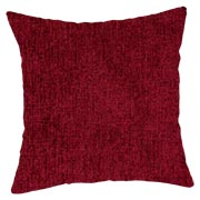 Chenille Weave Red Cushion Cover