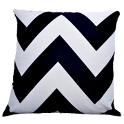 Chevron Cushion Black and White