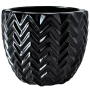 Chevron Vase Black