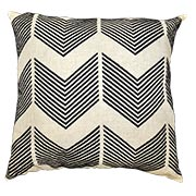 Chevron Embroidered Raw Linen
