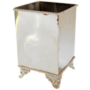 Classic Metal Vase Cube with Feet A