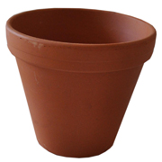 Classic Terracotta Garden Pots with Lip