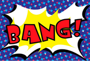 Comic Book Lycra Panel Bang