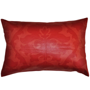 Cotton Damask Print Cushion Cover Two Tone Red