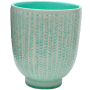 Crackle Pot Aqua Medium