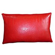 Crocodile PVC Cushion Cover Red