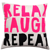 Cushion Cover Relax Laugh Repeat