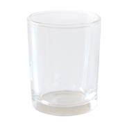 Cylinder Candle Votive Clear Glass