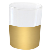 Cylinder Candle Votive Dipped Gold