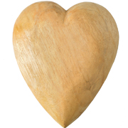 Decorative Heart_Large_Natural_Wood