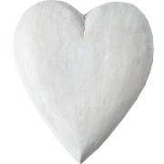 Decorative Heart Large White Wood