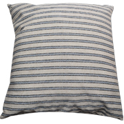 Denim and Stone Stripe Cushion