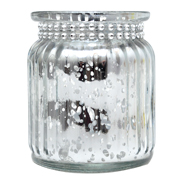 Diamante Speckled Votive Silver