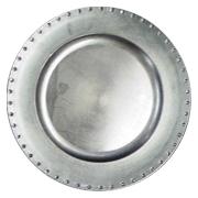 Diamante Under Plate Silver