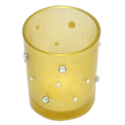 Diamante Votive Frosted Gold