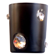 Diamante Votive Black Glass