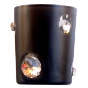 Diamante Votive Black Glass