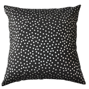 Dotty Printed Cushion Cover Silver on Black